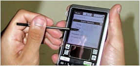 Implementation of a touchscreen interface allows staff to enter data quickly and accurately from within the living environment